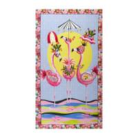 "QT Fabrics  Flamingo Fantastico Flamingo 24"" Panel"