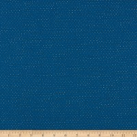 QT Fabrics  Hop To It Square Dot Blender Navy/White