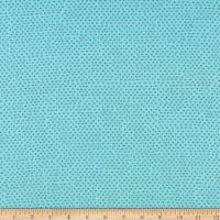 QT Fabrics  Hop To It Square Dot Blender Aqua Blue