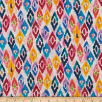 QT Fabrics  Rosalyn Diamond Geo Pink