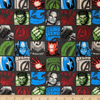 Marvel Avengers Hero Block in Charcoal