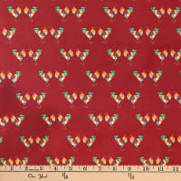 Laura Ashley Fables Cockerel Burgundy