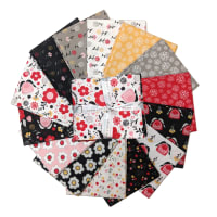 "Camelot Field of Poppies 18"" Fat Quarter Bundle Multi 14 pcs"