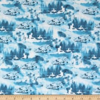 Star Wars Watercolor Falcon Toile in Blue