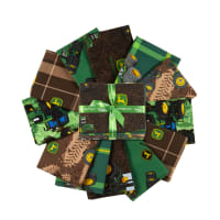 John Deere Brown Fat Quarter 12pc Bundle Multi