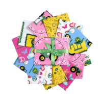 John Deere Pink Fat Quarter 12pc Bundle Multi
