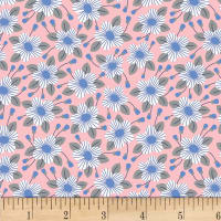P&B Textiles The Meadow Lane Poplin Packed Flowers Pink