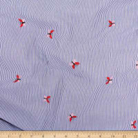 Telio Cheerful Embroidered Cotton Lawn Stripe Butterfly