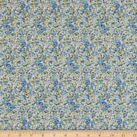 Liberty Fabrics Tana Lawn Emma and Georgina Blue/Multi