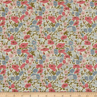 Liberty Fabrics Tana Lawn Poppy and Daisy Pink/Purple