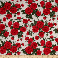 Liberty Fabrics Augusta Linen Carline Rose Red