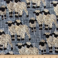 Banyan Batiks Kilts And Quilts Sheep Plaid Stone Grey