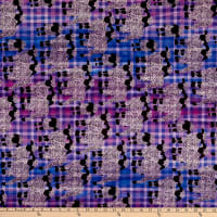 Banyan Batiks Kilts And Quilts Sheep Small Plaid Lilac Blue