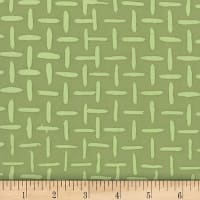 Banyan Batiks Jungle Rose Crosshatching Olive Green