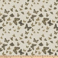 Northcott Shimmer Fantasia Butterflies Ombre Light Gray