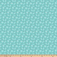 Northcott Doodle Dogs Bones With Sayings Turquoise