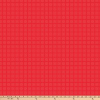 Northcott Doodle Dogs Single Color Dots Red