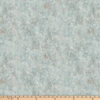 Northcott Misty Mountain Flannel Branches Greyed Turquoise