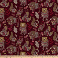 Northcott Great Plains Spirit Animals Brown Multi