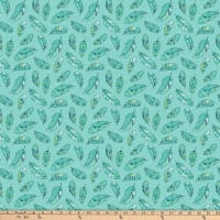 Northcott Great Plains Feather Toss Turquoise Multi