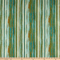 Northcott Urban Reflections Stripe Teal Multi