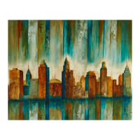 "Northcott Urban Reflections Urban Scene 36"" Panel Teal Multi"