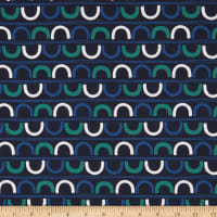 FIGO A Life In Pattern Crescents Navy