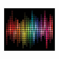 "Northcott Night Life 36"" Panel Black Multi"