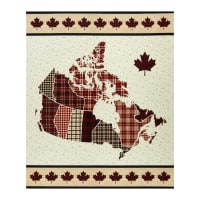 "Northcott Canadian Classics 2 Plaid 36"" Panel Cream Multi"