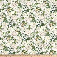 Northcott Bouquet Packed Floral White Multi