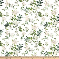 Northcott Bouquet Floral Trail White Multi