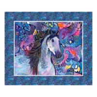 "Northcott Muse Muse 36"" Panel Blue Multi"