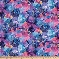 Northcott Muse Feature Abstract Print Blue Multi