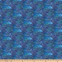 Northcott Muse Abstract Scallop Blue