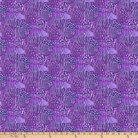 Northcott Muse Abstract Scallop Purple