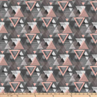 Northcott Cosmo Large Multi Triangle Charcoal Pink