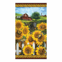 """Northcott Country Paradise 24"""" Panel Red Multi"""