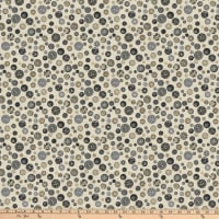 Northcott Material Girl Buttons Grey Multi
