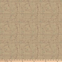 Northcott Material Girl Pattern Pieces Taupe