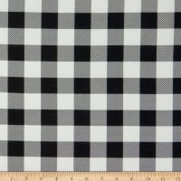 Riley Blake Stretch Jersey Knit Little Lumberjack Plaid Black/White