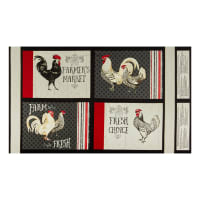 "Wilmington Free Range Fresh Craft 24"" Panel Multi"