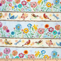 Wilmington Floral Flight Repeating Stripe Multi