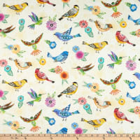 Wilmington Floral Flight Birds Allover Cream