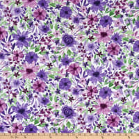 Wilmington Amethyst Magic Large Floral White
