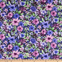 Wilmington Amethyst Magic Large Floral Black