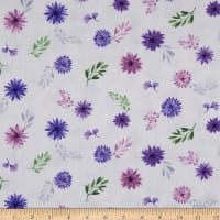 Wilmington Amethyst Magic Small Floral White