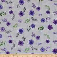 Wilmington Amethyst Magic Small Floral Gray