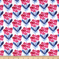 3 Wishes Digital Bright Birds Fixed Floral White