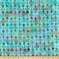 3 Wishes Digital Good Dogs Too Paws & B Ones Turquoise