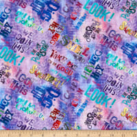 3 Wishes Digital Good Dogs Too Words Purple